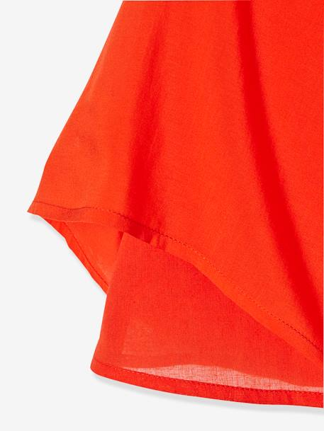 Robe longue fille encolure bijoux Orange vif 4 - vertbaudet enfant