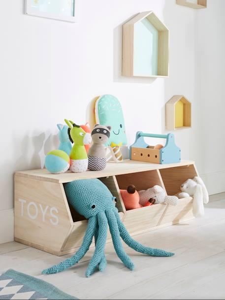 meuble 3 bacs toys bois vertbaudet. Black Bedroom Furniture Sets. Home Design Ideas
