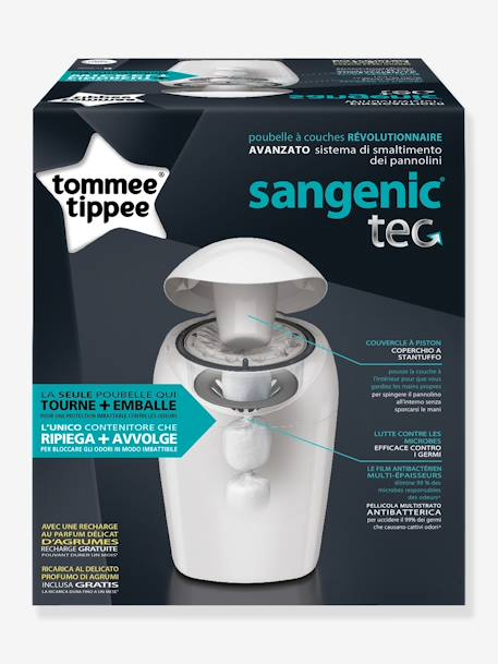 Poubelle A Couches Sangenic Tommee Tippee Blanc Sangenic