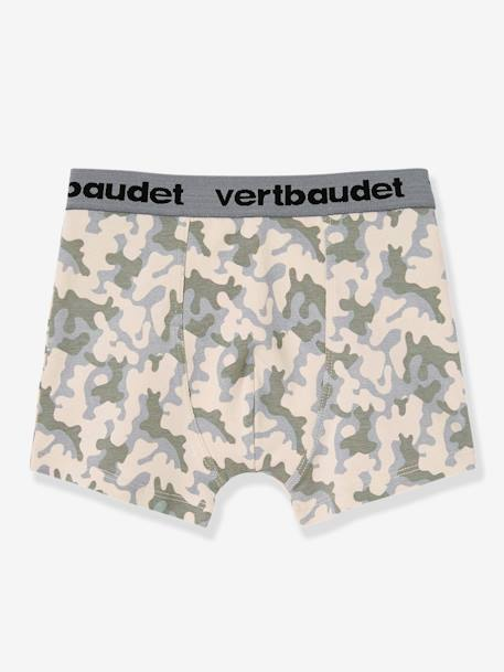Lot de 3 boxers stretch garçon Blanc/multicolore+Bleu moyen/multicolore 9 - vertbaudet enfant