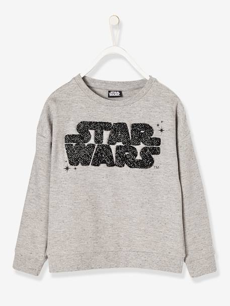 Sweat fille Star Wars® Gris clair chiné 1 - vertbaudet enfant