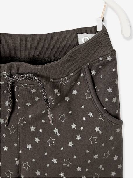Ensemble fille sweat + T-shirt + pantalon Gris chiné 5 - vertbaudet enfant