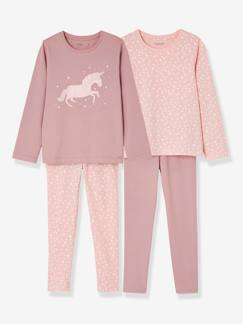 valisevacances-camping-Lot de 2 pyjamas fille combinables
