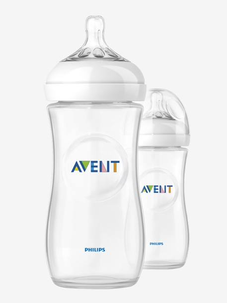 Lot de 2 biberons 330 ml Philips AVENT Natural sans BPA Transparent 2 - vertbaudet enfant
