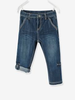 Toutes les collections vertbaudet-Pantacourt denim indestructible garçon transformable en bermuda