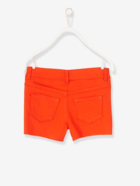 Short fille brodé Aqua+Blanc+ORANGE+Rose blush 11 - vertbaudet enfant