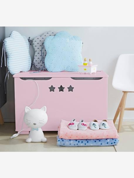 tour de lit modulable moustachat gris bleu vertbaudet. Black Bedroom Furniture Sets. Home Design Ideas