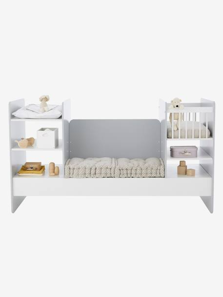 lit combin volutif compil blanc gris vertbaudet. Black Bedroom Furniture Sets. Home Design Ideas