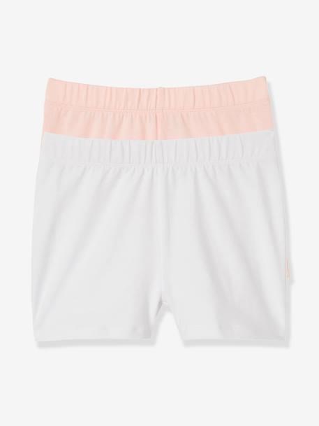 Lot de 2 shorts fille à porter sous robe Rose 1 - vertbaudet enfant abcec8f0a63