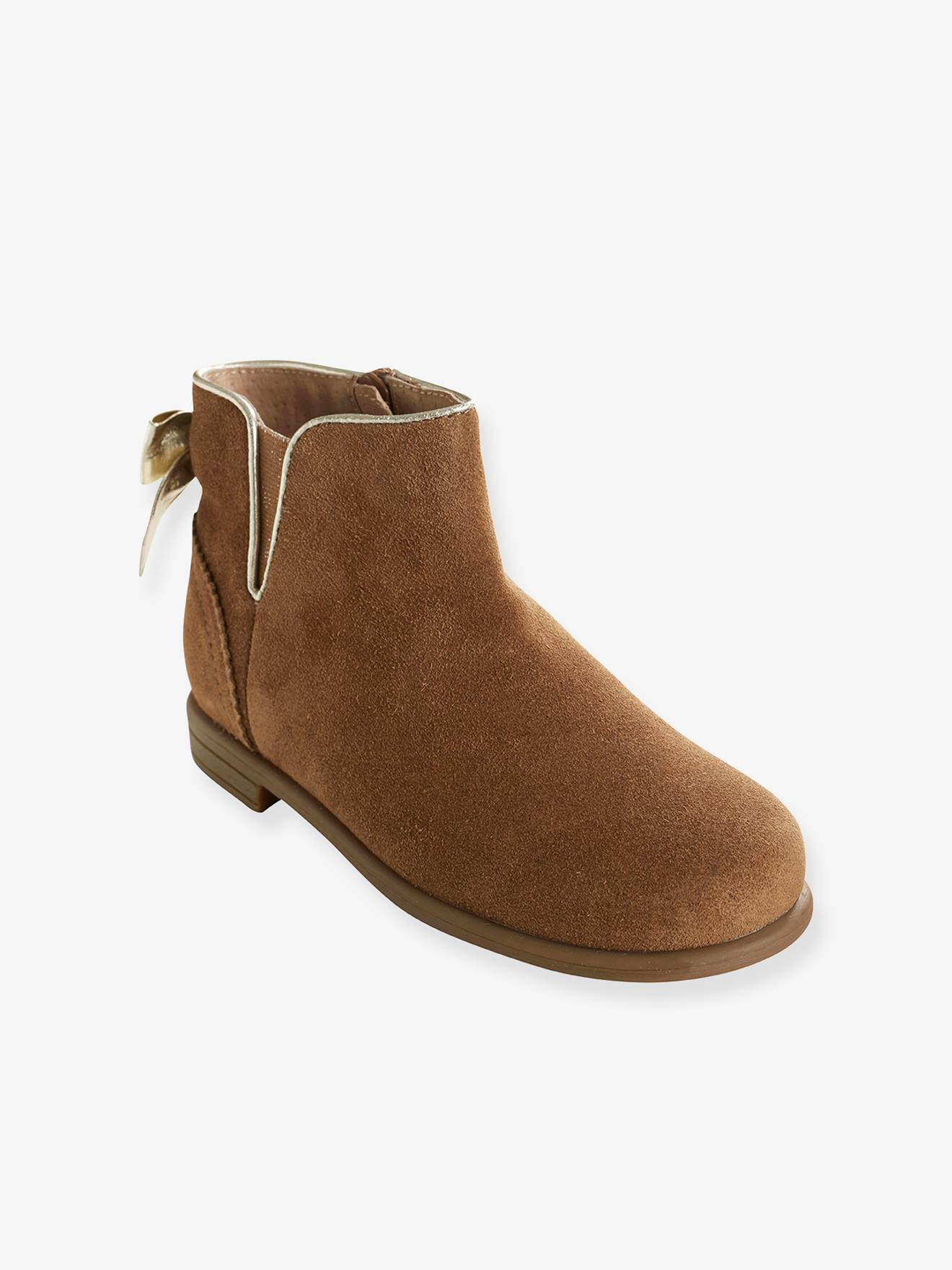 cuir Vertbaudet Boots caramel fille Boots cuir Boots fille fille caramel caramel cuir Vertbaudet nwkO80PX