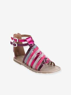 Chaussures-Chaussures fille 23-38-Sandales fille en cuir