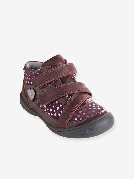 Bottines cuir fille collection maternelle MARINE+Noir+Violet 12 - vertbaudet enfant