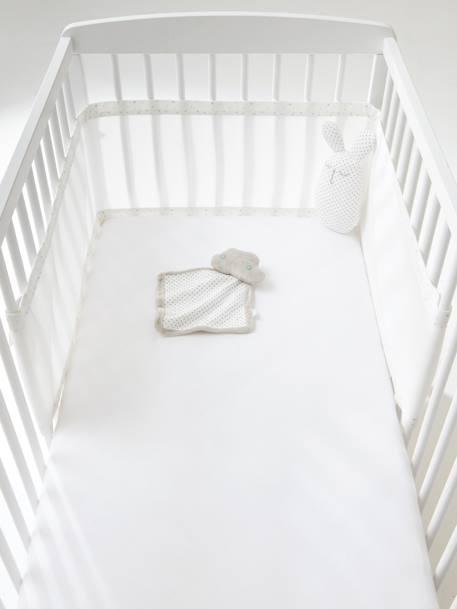 tour de lit respirant etoiles du soir blanc vertbaudet. Black Bedroom Furniture Sets. Home Design Ideas