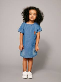 Nouvelle collection-Fille-Robe-Robe courte fille en denim Collection Maternelle