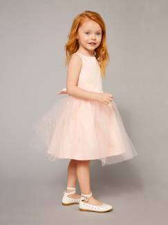 Nouvelle collection-Fille-Robe-Robe fille en satin et tulle