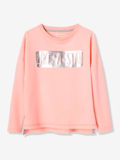 Fille-Sweat-Sweat sport fille inscription brillante