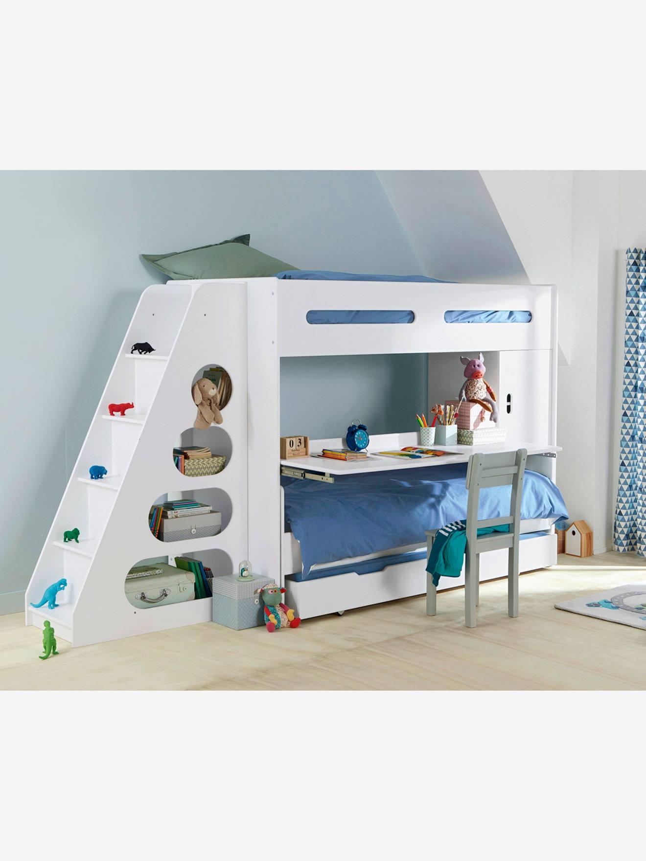 lit mezzanine enfant pour combiné évolutif combibed blanc - vertbaudet