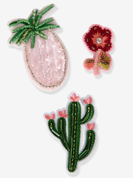 Lot de 3 badges broches fille exotiques MULTICOLORE 1 - vertbaudet enfant
