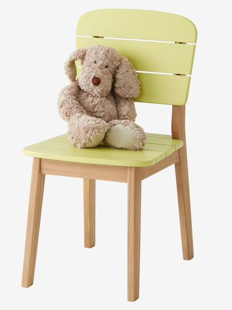 Chaise maternelle outdoor/indoor Tropicool Jaune+Orange+Vert 1 - vertbaudet enfant