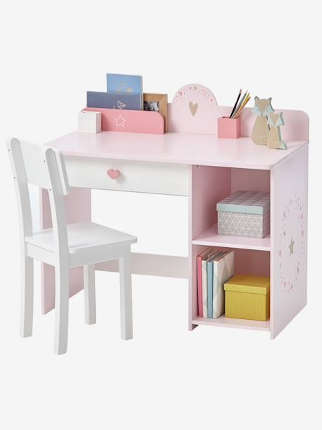 bureau sp cial maternelle ligne feerie rose vertbaudet. Black Bedroom Furniture Sets. Home Design Ideas
