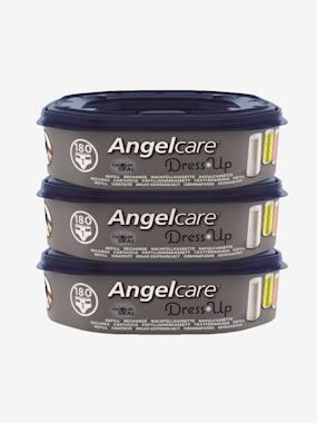 Lot de 3 recharges octogonales pour poubelles à couches Nappyclean et Dress Up bleu vertbaudet