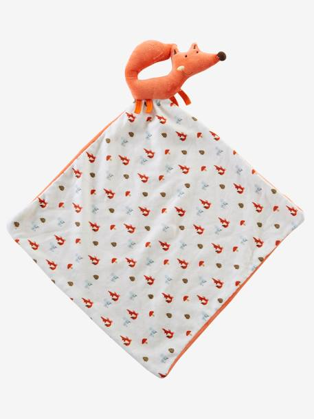 Grand doudou plat et hochet renard Orange 2 - vertbaudet enfant