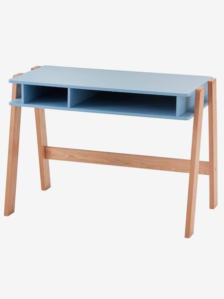 4c06a278a5a58 Bureau spécial primaire LIGNE ARCHITEKT Blanc/bois+Bleu grisé/bois+Rose  clair