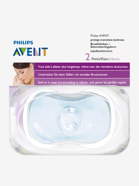 Lot de 2 protège-mamelons Philips AVENT TRANSPARENT 2 - vertbaudet enfant
