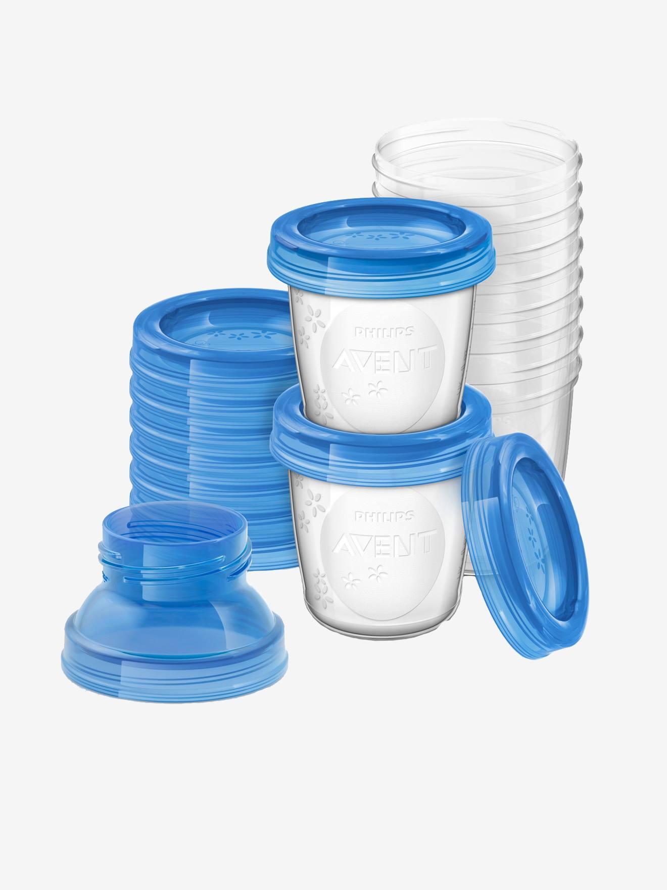 Pots de conservation pour lait maternel Philips AVENT bleu