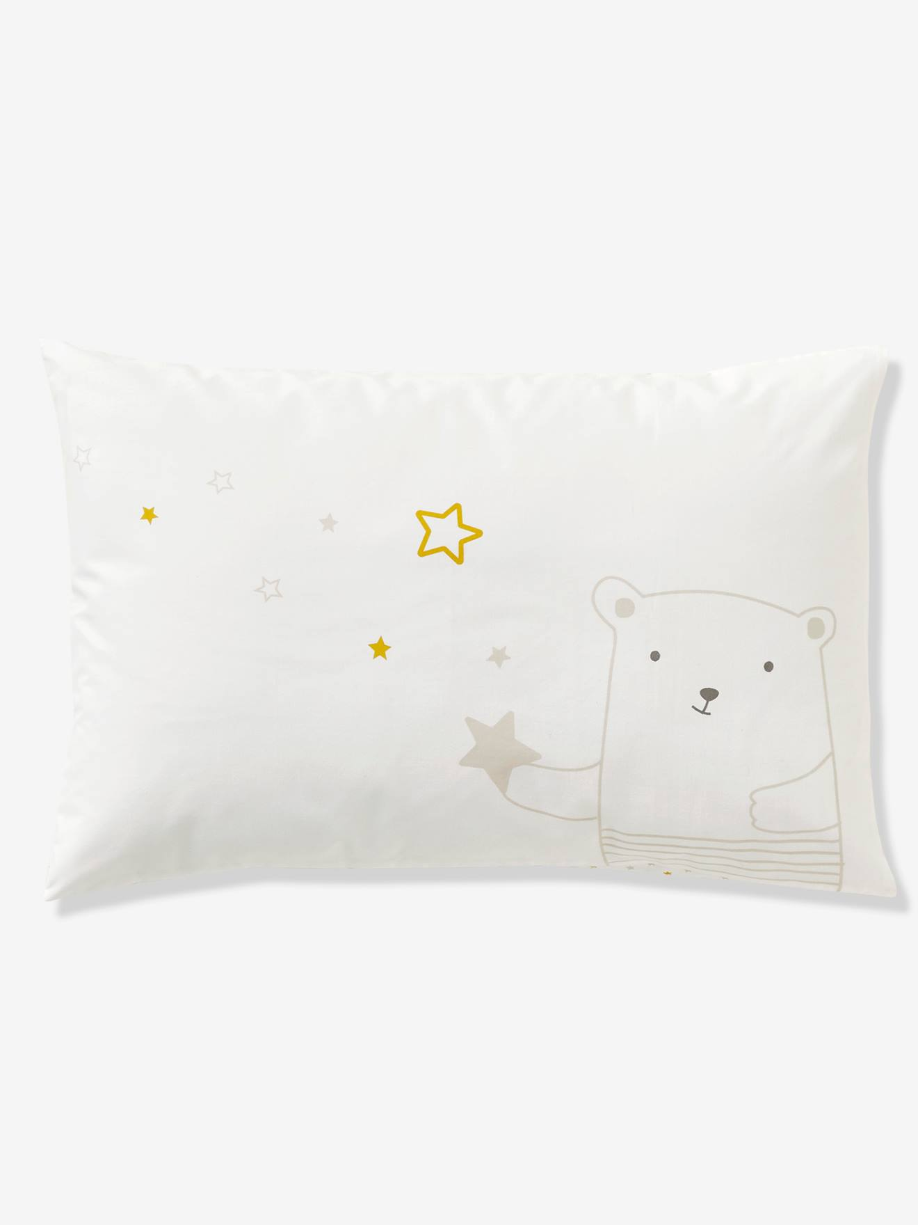 Taie d'oreiller bébé DOUDOUS REVE blanc imprimé étoiles