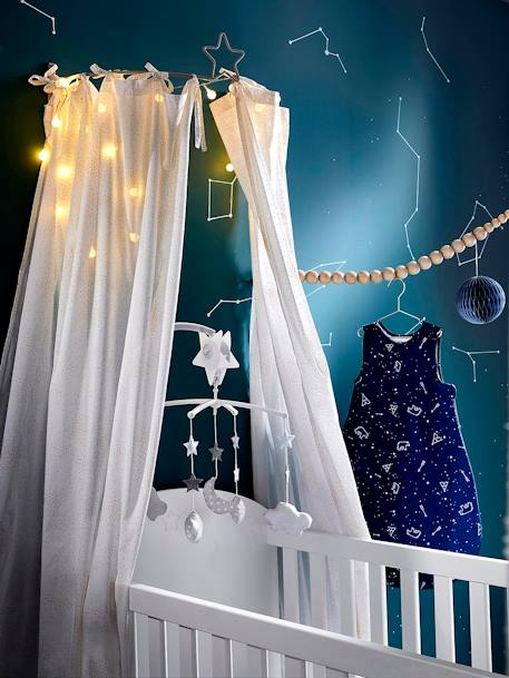 Mobile musical nuages et lune Constellation Gris  /  blanc 4 - vertbaudet enfant
