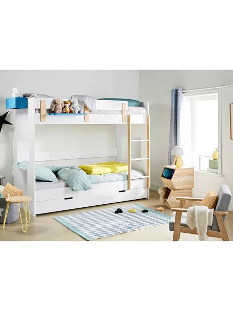 lit mezzanine mi hauteur ligne everest blanc bois vertbaudet. Black Bedroom Furniture Sets. Home Design Ideas