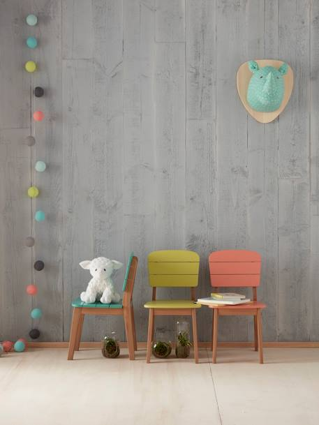 Chaise maternelle outdoor/indoor Tropicool Jaune+Orange+Vert 7 - vertbaudet enfant