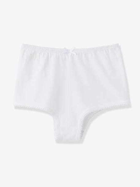 Lot de 4 shorties fille Blanc+rose+gris clair 7 - vertbaudet enfant