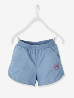 Fille-Short-Short fille denim light