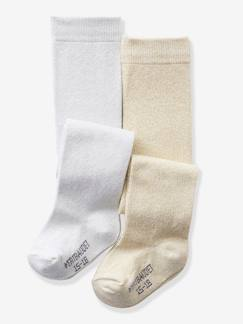 outlet-Bébé-Lot de 2 collants pailletés bébé