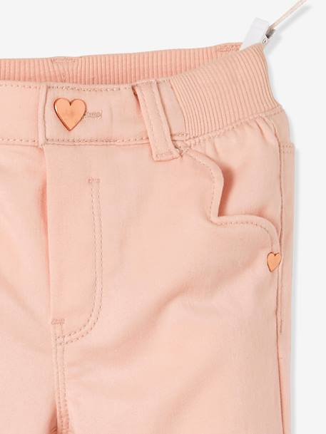 Pantalon slim fille tour de hanches LARGE Marine+Rose pâle 9 - vertbaudet enfant