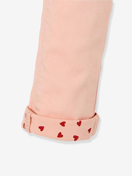 Pantalon slim fille tour de hanches LARGE Marine+Rose pâle 8 - vertbaudet enfant