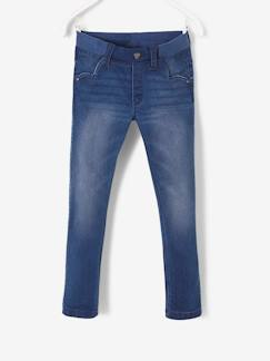 RDC maternelle-Pantalon slim fille en denim tour de hanches LARGE