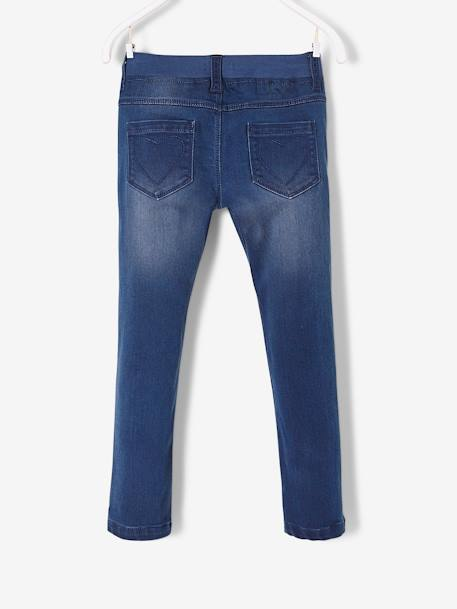 Pantalon slim fille en denim tour de hanches LARGE STONE 2 - vertbaudet enfant