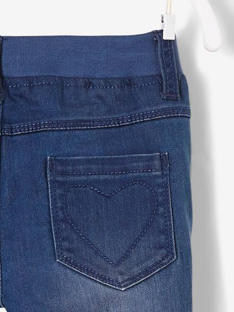 Pantalon slim fille en denim tour de hanches FIN Stone 4 - vertbaudet enfant