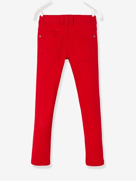 Pantalon slim garçon tour de hanches MEDIUM morphologik MARINE+ROUGE 6 - vertbaudet enfant