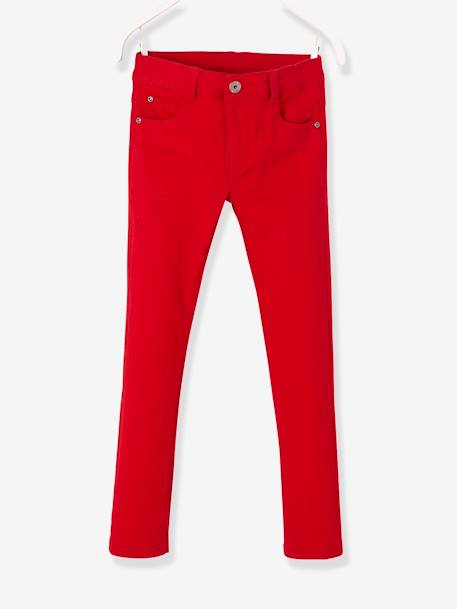 Pantalon slim garçon tour de hanches MEDIUM morphologik MARINE+ROUGE 5 - vertbaudet enfant