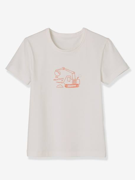 Lot de 3 T-shirts stretch garçon manches courtes LOT BLANC ORANGE 2 - vertbaudet enfant