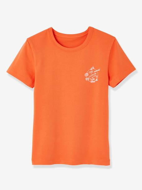 Lot de 3 T-shirts stretch garçon manches courtes LOT BLANC ORANGE 4 - vertbaudet enfant