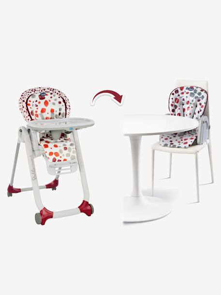 Chaise Haute évolutive Chicco Polly Progres5 Imprimé Rouge Chicco