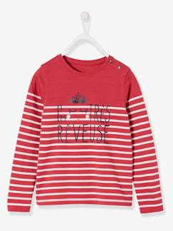 Fille-T-shirt rayé fille manches longues
