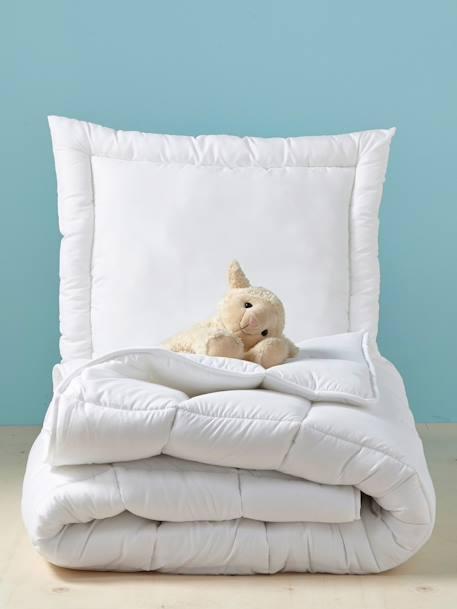 oreiller plat anti acariens trait bi ome blanc vertbaudet. Black Bedroom Furniture Sets. Home Design Ideas