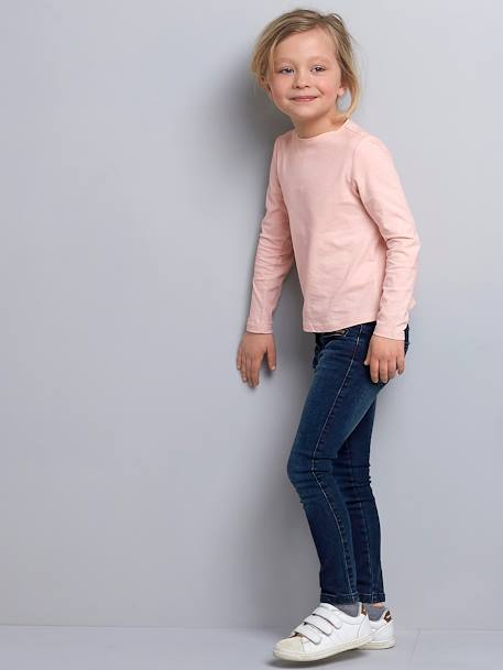 Pantalon skinny fille en denim tour de hanches LARGE Denim brut 4 - vertbaudet enfant