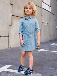 Fille-Robe-Robe fille denim léger
